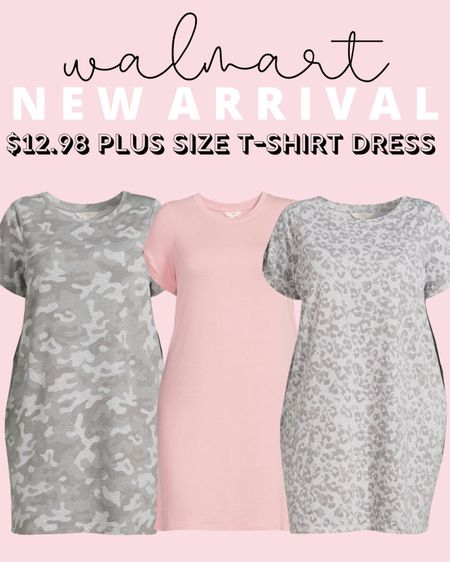 How cute is this new plus size Walmart find?! These plus size t-shirt dresses are just $13 and come in tons of cute prints! So much adorable plus size fashion for fall rolling out!   #LTKcurves #LTKstyletip #LTKunder50