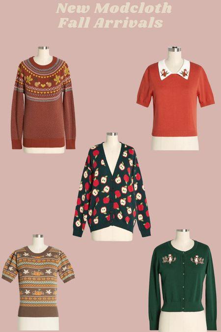 New Modcloth Fall Sweaters!   #LTKSeasonal #LTKHoliday #LTKunder100