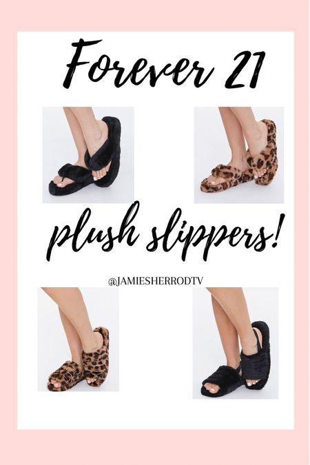 Plush Faux Fur Slippers 💗  #LTKunder50 #LTKunder100 #LTKstyletip