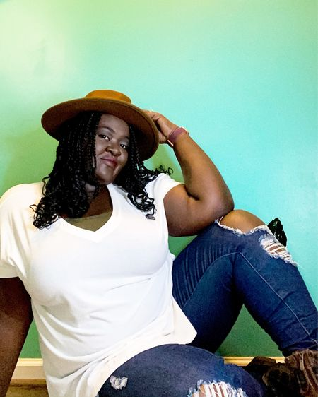 Sometimes getting all dressed up can make you feel better. I love grabbing plain t shirts from old navy because they're almost always on sale. Plus I had to throw in my favorite boots from torrid.  #liketkit @liketoknow.it http://liketk.it/37aEs #torrid #oldnavy #ltkitcurvy #LTKbeauty #LTKunder50 #StayHomeWithLTK Download the LIKEtoKNOW.it shopping app to shop this pic via screenshot @liketoknow.it.family @liketoknow.it.home