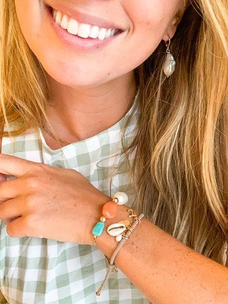 New Taudrey jewelry! Love these big pearls // #keywestblogger #southernanchors  #LTKunder100 #LTKstyletip #LTKunder50