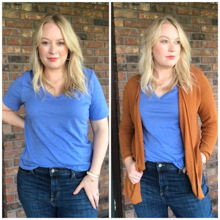 I'm always looking for a t-shirt with a bit long sleeves and found the perfect one. Plus it meshes perfectly with my #hocspring pallet. #houseofcolour I'm also going to be filling my closet with this cattail color this fall.   #LTKsalealert