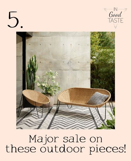 These outdoor chic chairs are on a major sale!! I love the double seater!  #LTKsalealert #LTKhome