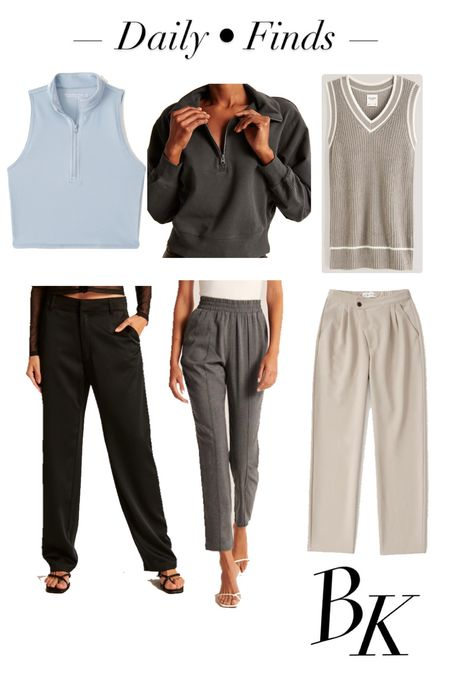 New Abercrombie finds for fall. The wide leg pants are totally my style and I'm loving them for date night and church used Courtney shields code: AFCOURTNEY    #LTKunder100 #LTKunder50