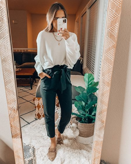 Amazon wardrobe staples✨ Wearing a small sweater and xs paperbag pants (these are one of my classroom must haves!) http://liketk.it/3i3Jp @liketoknow.it #liketkit