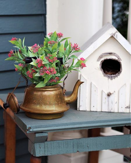 Outdoor porch decor for Spring!! http://liketk.it/3czKl #liketkit @liketoknow.it #porchdecor #teapot #birdhouse #gatheredinthekitchen Screenshot this pic to get shoppable product details with the LIKEtoKNOW.it shopping app @liketoknow.it.home