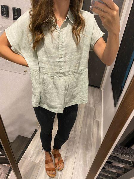 Teacher OOTD 👩🏻🏫 Linen shirts all the way!   #LTKbacktoschool #LTKworkwear #LTKstyletip