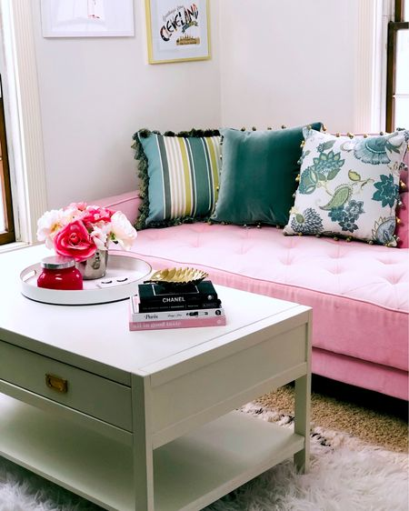 I have a Zoom in an hour. Time to change into my business pajamas! 🤣 . And speaking of...here's a glimpse into my home office...complete with essential cozy, chic pillows and lots-o-pink! 💕 I am always rethinking the decor but essentially it stays the same- even with all this extra time on my hands. 🤷♀️Anyone else not super motivated? . . Follow Glam_Karen on the @liketoknow.it app to shop this #liketkit office look! 1️⃣. Click the link in my bio. 2️⃣. Click on SHOP (at top) 3️⃣. Click on the image(s) to shop! . . .  http://liketk.it/2NMvf #LTKunder100 #LTKhome #LTKspring