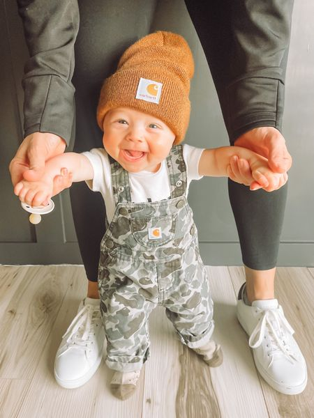 Carhartt beanie, baby boy outfit, camo outfit   #LTKbaby #LTKbump #LTKstyletip