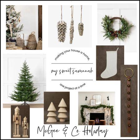 McGee & Co. Christmas favorites!  Christmas trees, stockings, garland, nutcrackers, wreaths galore!   #LTKhome #LTKSeasonal #LTKHoliday
