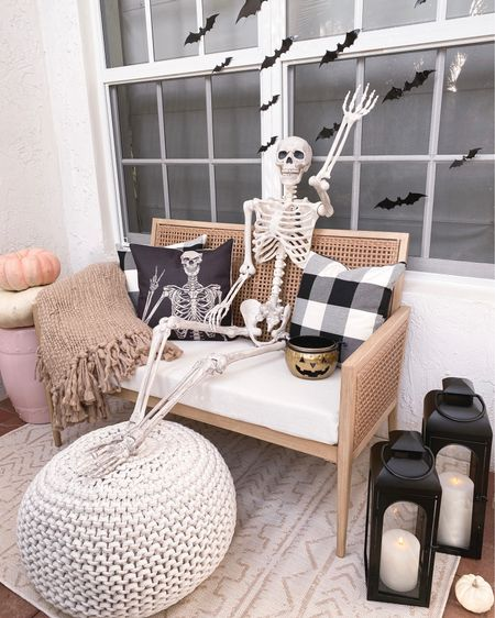 Hi neighbors💀 do you think our neighbors will be scared or impressed of our Halloween set up?? Hoping to make a good impression since we just moved here😂 I found some cute affordable decor from @walmart that helped spookify our front porch. They have the best selection! Wish you could see these lanterns all lit up at night ✨✨   #ad #WalmartHome Walmart, fall decor, outdoor decorations   #LTKunder50 #LTKhome #LTKSeasonal