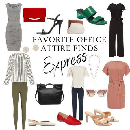 #LTKday, express, work wear, dress, purse, heels, clutch, sunglasses, flats, jewelry, accessories   #LTKworkwear #LTKunder100 #LTKsalealert