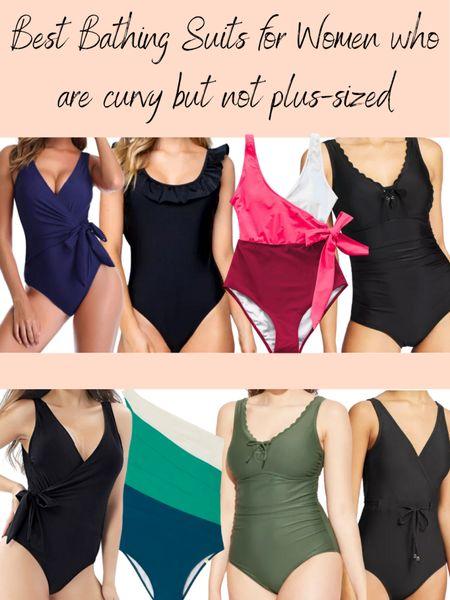 Swimsuits for women who are curvy but not plus-sized. Mid-size swimsuits http://liketk.it/3eYQs #liketkit @liketoknow.it #LTKunder50 #LTKswim #LTKcurves