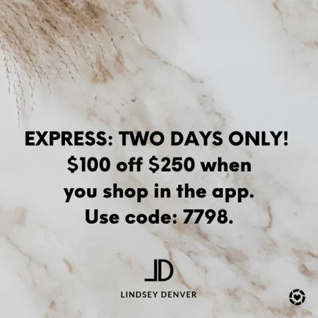 Wow! Express sale! An additional $100 off $250!     Follow me and style with me! I am so glad and grateful you are here!🥰 @lindseydenverlife 🤍🤍🤍    ______  Business Casual  Walmart Finds Express Jeans Shein Haul Nordstrom Sale  Wedding Guest Dresses Plus Size Fashions Back to School Maternity Style Teacher Outfits Comfy and casual options  #beachvacation #bikini #vacationoutfits #springfashion #vacay #vacaylook #vacalooks #vacationoutfit #springoutfit #springoutfits #beachvacationoutfit #beachvacationoutfits #springbreakoutfit #springbreakoutfits #beachoutfit #beachlook #beachdresses #vacation #vacationbeach #vacationfinds #vacationfind #vacationfashion #vacationstyle #swimwear #swimcover #summerfashion #targetstyle #targetdresses #targetdress #targetoutfits #Leeannbenjamin #stylinbyaylin #cellajaneblog #lornaluxe #lucyswhims #amazonfinds #walmartfinds #interiorsesignerella #lolariostyle    #express #denim #jeans #business casual #looksforless #falloutfit #Leeannbenjamin #stylinbyaylin #cellajaneblog #lornaluxe #lucyswhims #amazonfinds #walmartfinds #interiorsesignerella #lolariostyle   Follow my shop on the @shop.LTK app to shop this post and get my exclusive app-only content!  #liketkit #LTKsalealert #LTKunder50 #LTKunder100 @shop.ltk http://liketk.it/3kExG