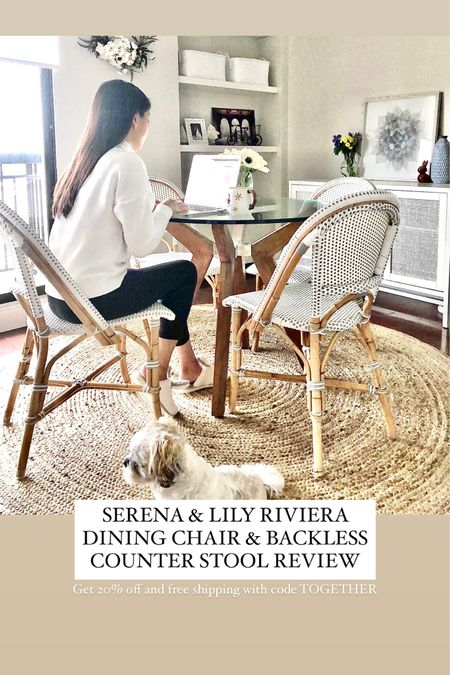 SERENA & LILY RIVIERA DINING CHAIR BACKLESS COUNTER STOOL REVIEW now on the blog. Get 20% off + free shipping using code TOGETHER. 👉🏻 https://www.whatjesswore.com/2020/11/serena-lily-riviera-dining-chair-backless-counter-stool-review.html  @liketoknow.it http://liketk.it/32s1e #liketkit  #LTKhome #StayHomeWithLTK #LTKsalealert