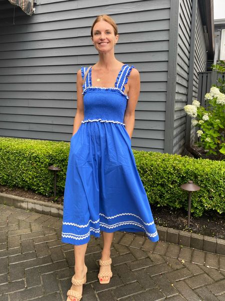 En saison dress, Shopbop, amazon finds, summer style, nautical, preppy, class summer outfits, bridal shower, Brunch, blue dress,   #LTKstyletip #LTKwedding
