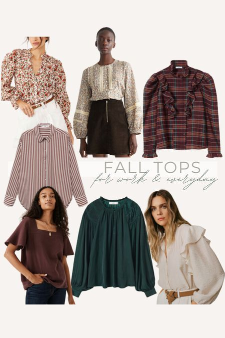pretty fall tops, shirts and blouses for work from home, work and everyday   #LTKstyletip #LTKunder100 #LTKSeasonal