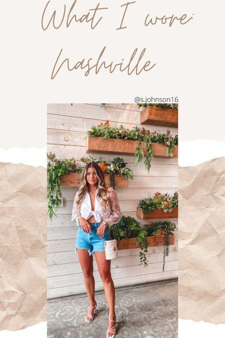 Nashville brunch look: Small in top (linked similar) Sized up one in shorts Shoes TTS- linked these & similar   http://liketk.it/3hSlO #liketkit @liketoknow.it #LTKstyletip #LTKsalealert #LTKunder50