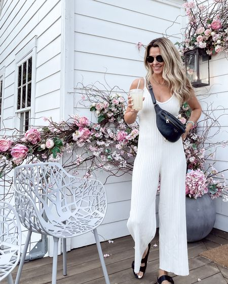 Knit, ribbed jumpsuit, part of the Shopbop sale. Cute with a cardi layered over and white sneakers. Sz XS   #LTKsalealert #LTKunder100 #LTKstyletip