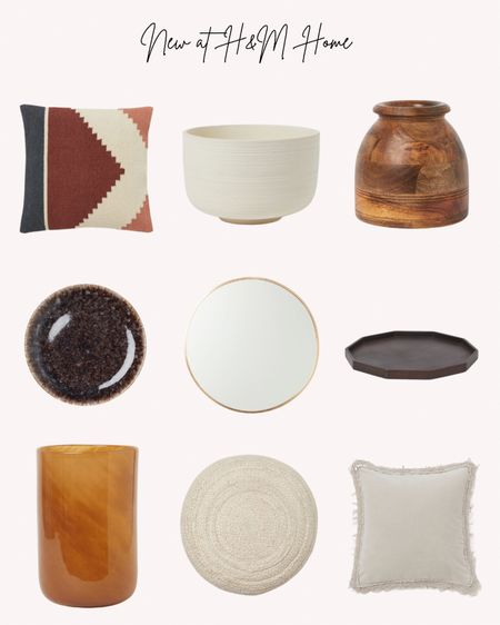 Home decor, new, H&M, fall, autumn, pillows, vases, pots, platters, plates, mirror, pouf   Follow me for more ideas and sales.   Double tap this post to save it for later    #LTKhome #LTKunder50 #LTKSeasonal