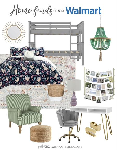 Update your daughter's room with these great finds from Walmart!  #LTKhome #LTKkids #LTKunder100