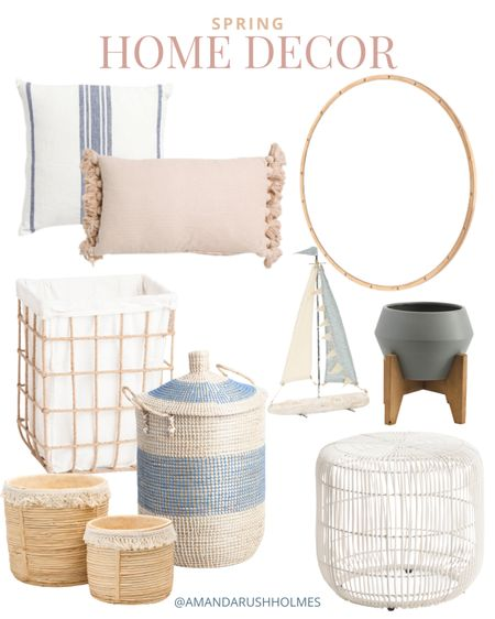 The spring home decor at Tjmaxx and Marshall's is so good right now! I love these neutral coastal pieces for a bedroom or living room refresh!   #LTKhome