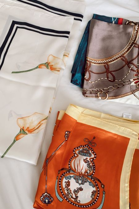 Satin scarves to wear as tops
