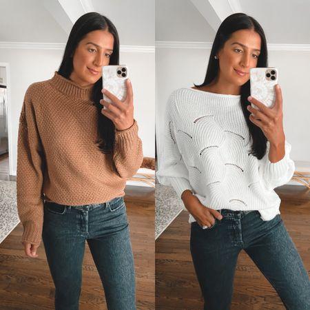 Turtleneck sweater and off the shoulder sweater from Amazon fashion. Perfect fall sweaters for under $30, medium   #LTKunder50 #LTKsalealert #LTKSeasonal