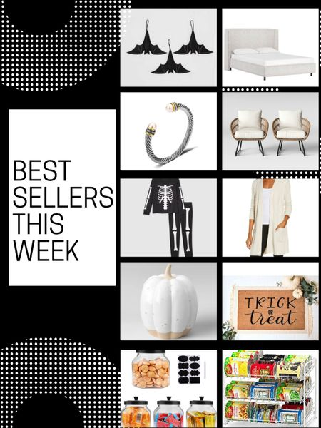 Best Sellers and Most Loved this week!  Halloween and Home decor were at the top of the list! Which is your favorite?        Home decor , halloween decor , halloween , fall decor , pumpkin decor , pantry storage , pantry organization , door mat , halloween doormat , etsy , target style , target home decor , amazon home , amazon finds , the styled collection , jewelry , bracelets , #ltkhome , #ltkstyletip , patio furniture   #LTKunder50 #LTKsalealert #LTKSale