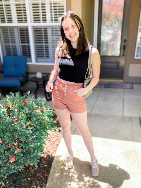 Loving this target outfit! All true to size & everything comes in more colors too🙌    #target #targetstyle #shorts #sneakers #sweatervest #summeroutfits #beachvacationoutfits #summerfashion #paperbagshorts #casualoutfits #sneakeroutfits     #LTKunder50 #LTKshoecrush #LTKSeasonal