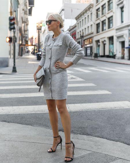 Grey sweater dress. Fall style.   #LTKworkwear #LTKSeasonal #LTKstyletip