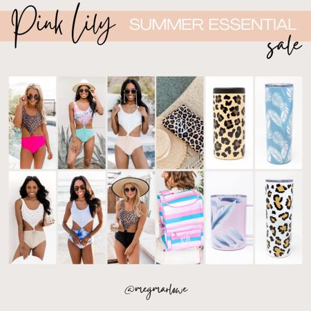 Pink Lily Summer Essentials sale on swimsuits, towels, tumblers and more!   #LTKSeasonal #LTKunder50 #LTKswim