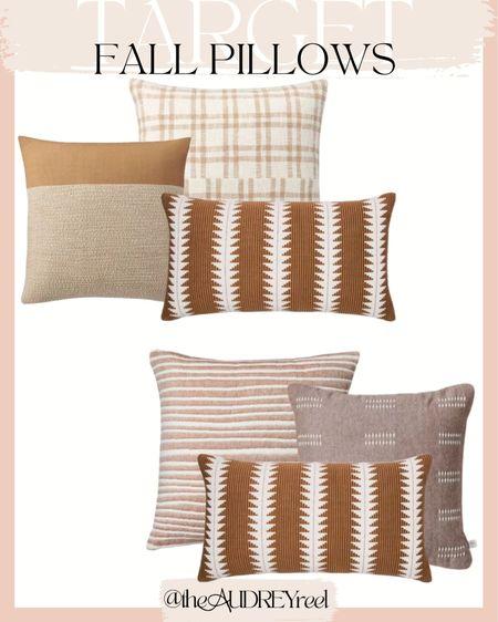 Target Fall pillows decor living room chair couch mustard yellow orange warm threshold studio McGee hearth & home  #LTKunder50 #LTKSeasonal #LTKhome