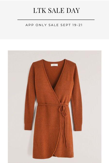LTK sale day, wrap dress, autumn dress, fall dress, date night look, AF  #LTKGiftGuide #LTKSale #LTKHoliday