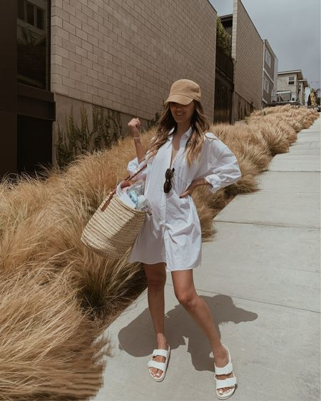 Can literally fit anything into my beach bag!  Beach vacation  Beach bag  Straw bag  Birkenstock's run TTS  swim cover up  Vacation outfit  Summer outfit   Follow me on my IG @drluxy for more outfit inspo    http://liketk.it/3iBsO #liketkit @liketoknow.it Shop your screenshot of this pic with the LIKEtoKNOW.it shopping app   #LTKitbag #LTKtravel #LTKswim