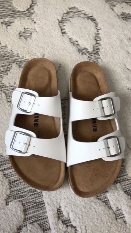 Birkenstock look-a-likes Sam wore her size 7 ooooout and we've got a new size 8! She's growing so quickly!   #LTKkids #LTKunder50 #LTKshoecrush