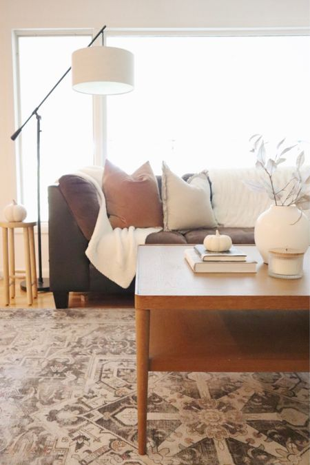 Living room, fall decor, coffee table   #LTKunder50 #LTKhome #LTKSeasonal