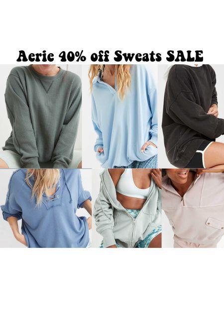 Aerie 40% off sweatshirts sale!   #LTKSale #LTKtravel #LTKsalealert