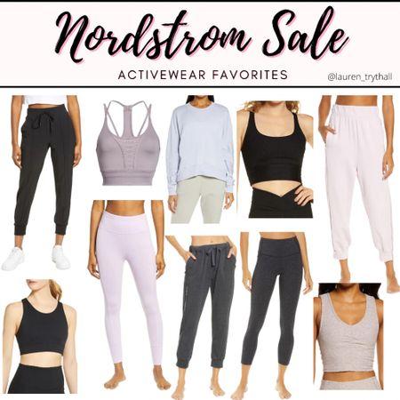 Nordstrom Sale: Activewear Favorites. Cute workout clothes, workout fit, leggings, sports bra, crop top, athletic wear, gym clothes, joggers    #LTKfit #LTKstyletip #LTKsalealert