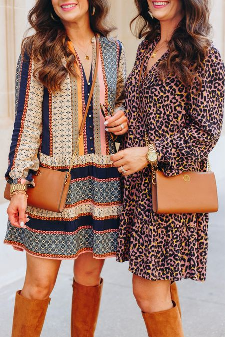 Fall is here! These dresses and boots are so cute and are from LOFT!