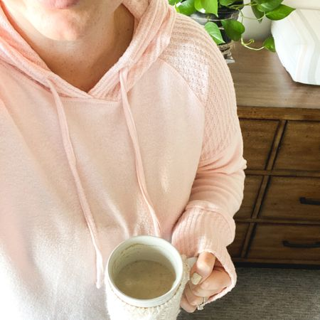 Cozy knits for me and my mug. Sweater blush mist + is a loose fit, so I sized down one and it's still a cozy fit! Also grabbed this tunic hoodie in black!  Follow me on the LIKEtoKNOW.it shopping app to get the product details for this look and others @liketoknow.it @liketoknow.it.family #liketkit #LTKunder50 #LTKsalealert #LTKcurves http://liketk.it/32WtI