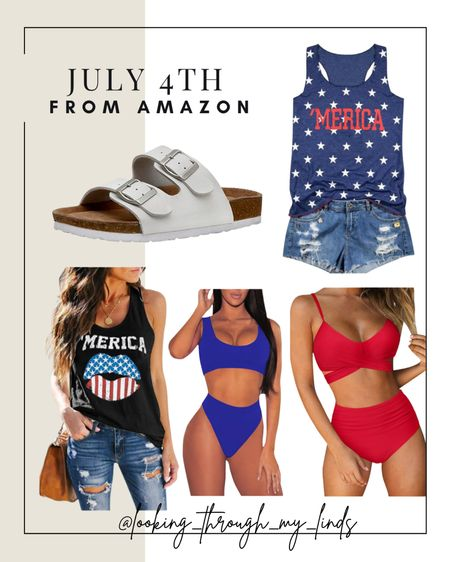 Fourth of July weekend   backyard   BBQ   July 4th   red white and blue   USA   patriotic   #LTKswim #LTKsalealert #LTKunder50