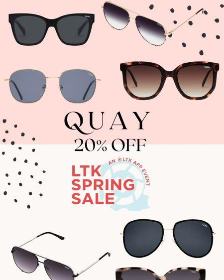 "LTK spring sale - USE CODE ""LTKQUAY20"" to get 20% off Quay sunnies! http://liketk.it/3clAX #liketkit @liketoknow.it #LTKSpringSale #LTKunder50 #LTKsalealert"