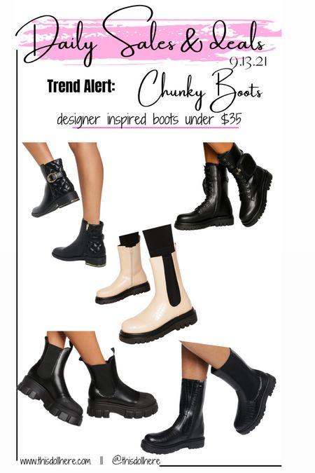 Fall fashion, designer inspired, boots, chunky boots,   #LTKSeasonal #LTKstyletip #LTKunder50
