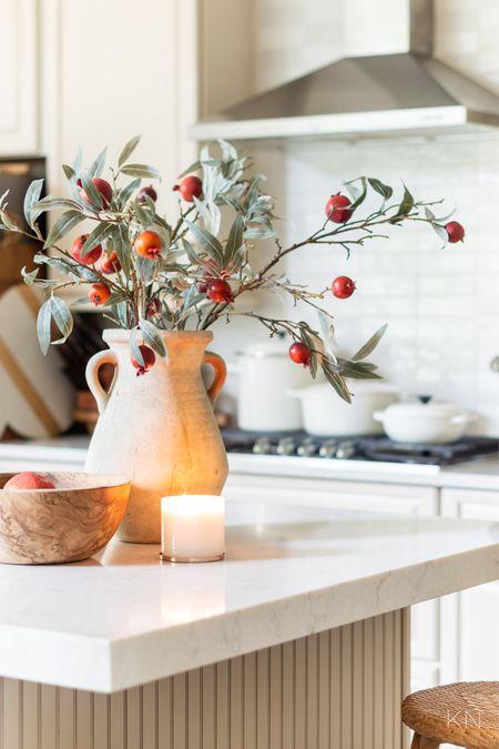 Kitchen island styling for fall. Home decor kitchen decor fall decor terracotta vase Dutch oven braised stock pot cheese board  #LTKSeasonal #LTKstyletip #LTKhome