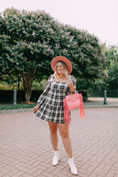 This plaid flannel dress is gonna be a fave for fall 😍🍂🍁 And it's 40% off! (I sized down to a medium) Screenshot this pic to get shoppable product details with the @shop.ltk app!   #LTKunder50 #LTKsalealert #LTKSeasonal
