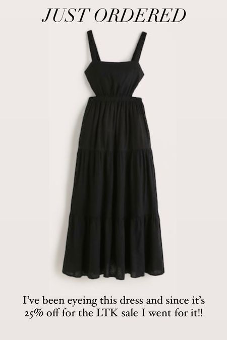 I just ordered this dress from Abercrombie since it's part of the LTK sale. Use the code for 25% off through Tuesday only. I went with my normal size - code LTKAF2021  #LTKstyletip #LTKunder100 #LTKSale