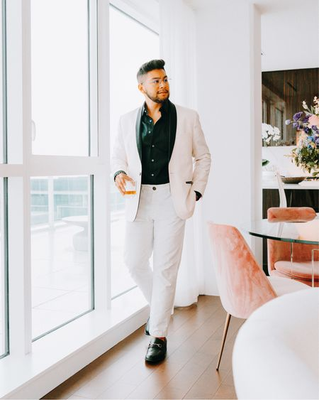 """While no one is completely sure exactly when or why this fashion rule came into effect, the best guess is that it had to do with snobbery in the late 1800s and early 1900s.  The """"you can't wear white after Labor Day,"""" rule was created to separate the old money elitists from the new money group. """"It [was] insiders trying to keep other people out,"""" according to Valerie Steele, director of the Museum at the Fashion Institute of Technology, in an interview with Time, """"and outsiders trying to climb in by proving they know the rules.""""  For those who had money and could leave the city during warmer months, white was considered vacation attire. """"If you look at any photograph of any city in America in the 1930s, you'll see people in dark clothes,"""" Charlie Scheips, author of American Fashion, has said. Meanwhile, white linen suits and Panama hats were considered the """"look of leisure.""""  In short, if you lived in the dirty city, you wore dark clothes. If you were wealthy enough to escape to a vacation home for the summer, you wore white """"leisure"""" looks — until it was time to return to urban life, that is.  Menswear. Labor Day. White after Labor Day. White chinos. White pants. Tuxedo jacket. Dandy in the Bronx.    #LTKstyletip #LTKmens"""