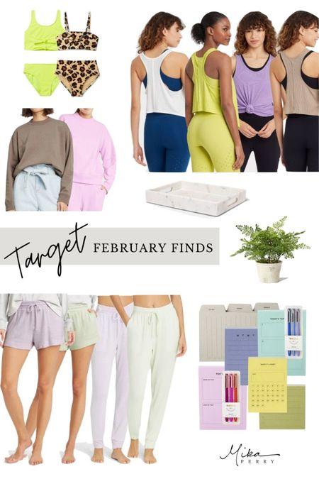 Feb Target finds! Loungewear, swimsuits, home decor, workout outfits, under $20, organizing, pajamas  #LTKstyletip #LTKSeasonal #LTKunder50