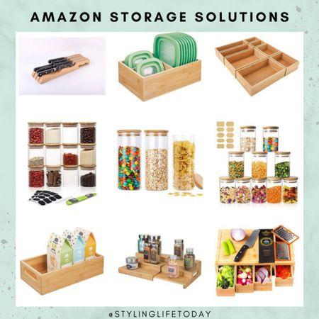 Bamboo kitchen storage solutions. Organization. Organizers. Organized. Essentials. Amazon home  #LTKunder50 #LTKeurope #LTKhome